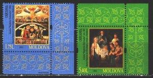 Moldova. 2012. 817-18. Christmas, biblical motives. MNH.