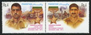 Pakistan 997 pair, MNH. Nishan-e-Haider, military gallantry award winners, 2002