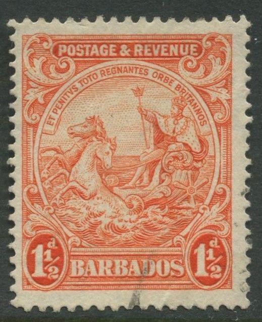 Barbados - Scott #168? -  Seal of Colony -1932 - VFU - Singe 1.1/2p Stamp