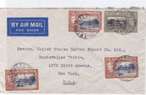 trinidad & tobago 1940 to usa  stamps cover  ref r14915