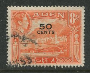 STAMP STATION PERTH Aden #41 - KGVI Definitive Overprint 1951 Used CV$0.50.