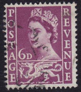 GB Wales - 1958 - Scott #3 - used - Elizabeth II