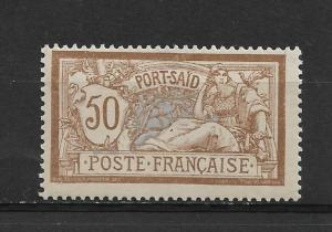 1902 French Offices-Port Said 50c Scott # 29,VF Mint previously Hinged*OG (FC-6)