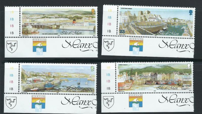 Isle of Man MUH SG 527 - 530  Bottom Left corner margin Copy