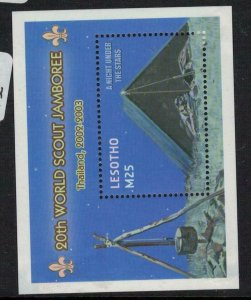Lesotho Scout SC 1317 Small Fault MNH (2eia)