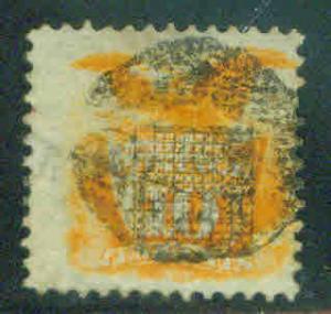 USA Scott 116 10c 1869 Yellow Shield stamp CV $150