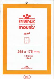 PRINZ BLACK MOUNTS 265X175 (5) RETAIL PRICE $13.50