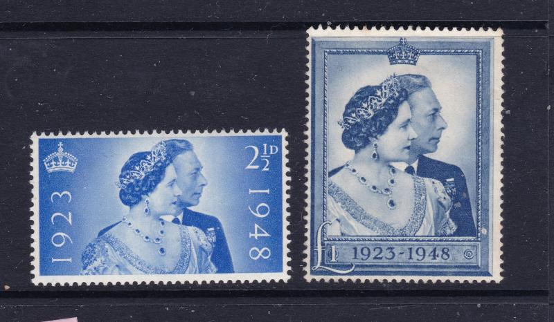Great Britain the 1949 Silver wedding pair mint