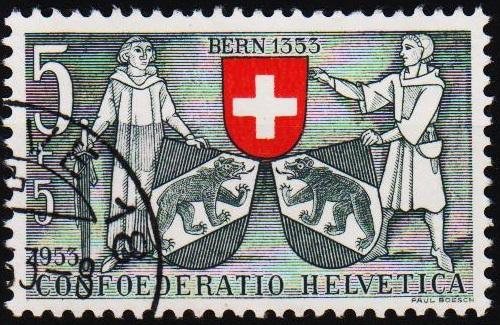 Switzerland.1952 5c+5c S.G.536 Fine Used
