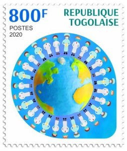 Stamps of 2020. TOGO. - FIGHT AGAINST THE COVID-19 PANDEMIC