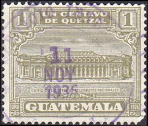 Guatemala Scott RA2 Post Office and Telegraph Building Used