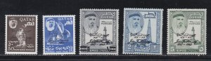 Qatar # 42-46, John F. Kennedy Overprints, NH, 1/2 Cat.