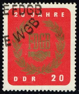 Germany DDR #773 Free German Trade Union; CTO (2Stars)