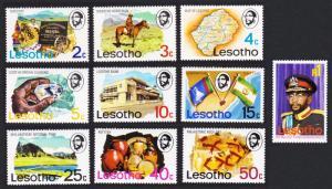 Lesotho Horses Diamond Flags Archaeology Prehistoric Man Definitives 10v