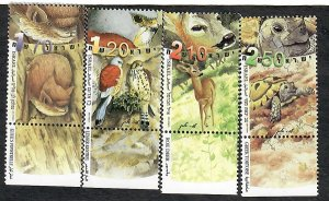 Israel #1435 - 1438 Fund for Nature MNH Singles with tab