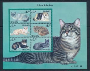 [38398] Nicaragua 2000 Animals Cats MNH Sheet