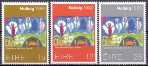Ireland. 1980. 430-32. Christmas NG. MNH.