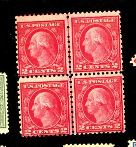 540 MINT Block Left stamps Lower than Right F-VF OG NH Cat $115