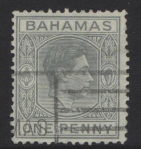 BAHAMAS- Scott 101A - KGVI Definitive -1941 - FU - Pale Grey - Single 1d Stamp