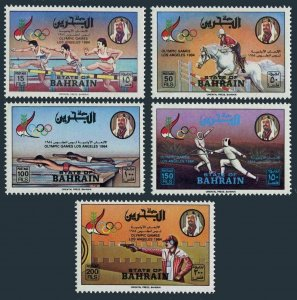 Bahrain 305-309,MNH.Michel 346-350. Olympics Los Angeles-1984.Equestrian,Fencing