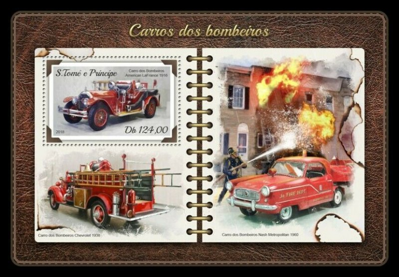 HERRICKSTAMP NEW ISSUES ST. THOMAS Fire Engines S/S