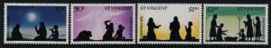 St Vincent 683-6 MNH Christmas, Angel, Shepherds