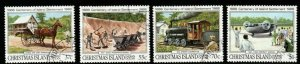 CHRISTMAS ISLAND SG255/8 1988 CENTENARY OF PERMANENT SETTLEMENT FINE USED