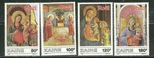 Zaire MNH 1237-40 Christmas 1987 SCV 8.00