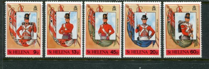St Helena #509a-e MNH Uniforms