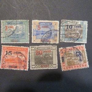 SAAR 85-90 OVERPRINTS  1921 Used HR Cv. $2.60