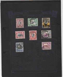 kenya uganda tanganyika used stamps on 2 pages values to 2 shillings ref r8558