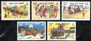 Isle of Man Sc# 413-417 MNH 1990 Humorous Edwardian Postcards