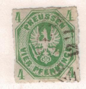 Prussia (German State) Stamp Scott #15, Used - Free U.S. Shipping, Free World...