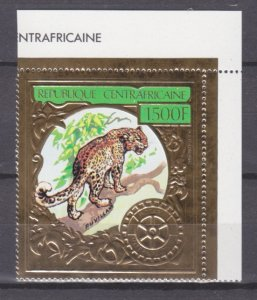 1982 Central African Republic 819 gold Leopard 15,00 €