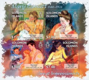 SOLOMON ISLANDS 2013 SHEET CASSATT ART PAINTINGS slm13203a
