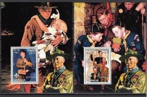 Somalia, 2002 Cinderella issue. Norman Rockwell, Scout Illustrations 2 s/sheets.