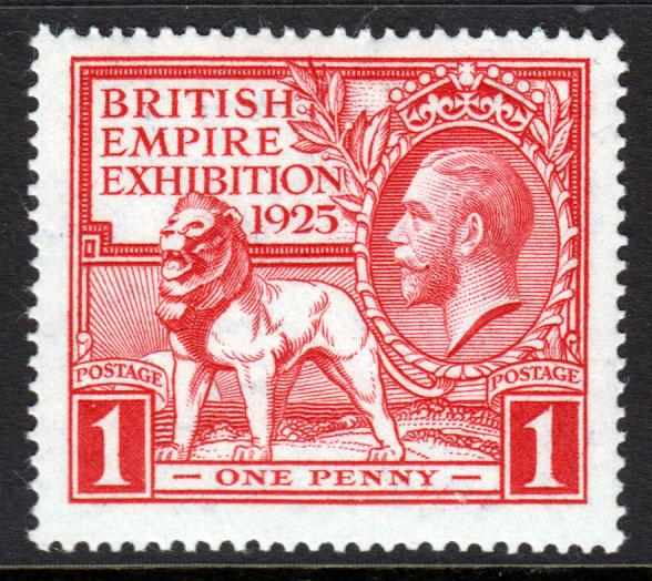 GB KGV 1925 British Empire Exhibition 1d Scarlet SG432 Mint Never Hinged MNH UMM