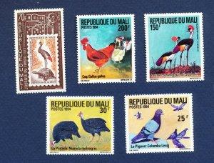MALI -  - FVF MNH - BIRDS - 1973-1994