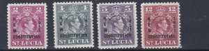 ST LUCIA  1951  NEW CONSTITUTION SET  MNH