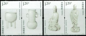 China (PRC) #4049-50  MNH - Porcelain Objects from Dehua Kiln (2012)