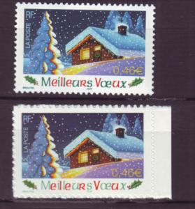 J20451  jlstamps 2002 france set mnh #2919-20 christmas