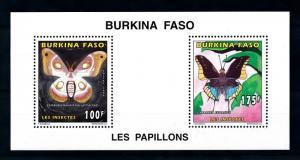 [93783] Burkina Faso 1996 Insects Butterflies Papillons Sheet MNH