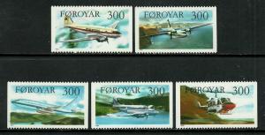 Faroe Is #134-8 MNH Set - Planes