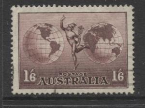 Australia - Scott C4 - Mercury & Hemispheres -1934 - Fine Used - 1/6p Stamp