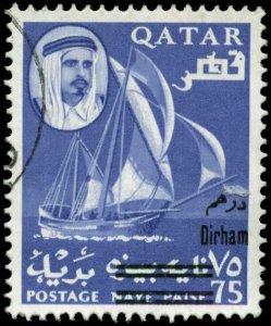 Qatar Scott #108F Used