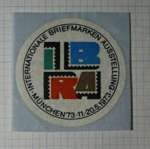 Intl Briefmarken Ausstellung IBRA Munich Germany 1973 Philatelic Souvenir Ad