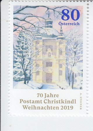 2019 Austria Christmas Christkindl Post Office (Scott 2830) MNH