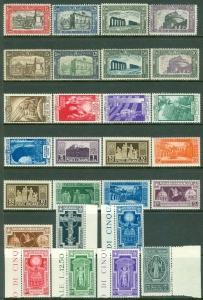 ITALY : 5 different Better Complete sets. All are PO Fresh & VF, MNH. Cat €822.
