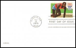 US UX80 Olympics Postal Card U/A FDC