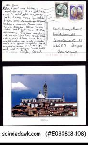 ITALY - 1989 SIENA PICTURE POSTCARD TO GERMANIA WITH STAMPS